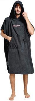 Cressi Poncho Robe schwarz